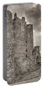 Threave Castle In Grey Portable Battery Charger