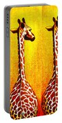 Three Amigos Giraffes Looking Back Portable Battery Charger