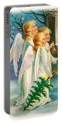 Three Angels In White Dresses Portable Battery Charger