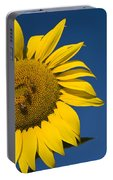 Three Bees And A Sunflower Portable Battery Charger