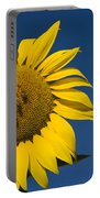 Three Bees And A Sunflower Portable Battery Charger by Adam Romanowicz