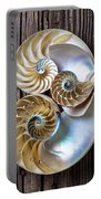 Three Chambered Nautilus Portable Battery Charger by Garry Gay