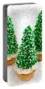Three Christmastree Cupcakes  Portable Battery Charger