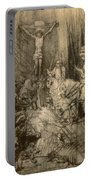 Three Crucifixes Portable Battery Charger by Rembrandt Harmenszoon van Rijn