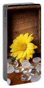 Three Daisy Shadowbox Portable Battery Charger