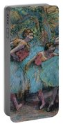 Three Dancers.blue Tutus Red Bodices Portable Battery Charger