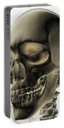 Three Dimensional View Of Human Skull Portable Battery Charger by Stocktrek Images