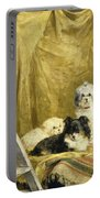 Three Dogs Portable Battery Charger by Charles van den Eycken