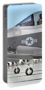 Three F-35b Lightning IIs At Marine Portable Battery Charger