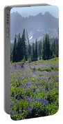 105417-three Fingered Jack And Wildflowers Portable Battery Charger