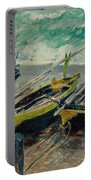 Three Fishing Boats Monet 1886 Portable Battery Charger