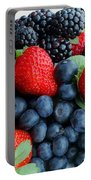 Three Fruit 2 - Strawberries - Blueberries - Blackberries Portable Battery Charger by Barbara Griffin