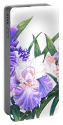 Three Irises Portable Battery Charger