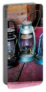 Three Kerosene Lamps Portable Battery Charger