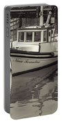 Three Little Boats Sepia Portable Battery Charger