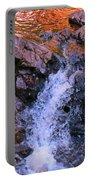 Three Little Forks In The Waterfall Portable Battery Charger