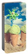Three Mint Icecreams Portable Battery Charger