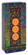 Three Of Pentacles Portable Battery Charger