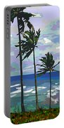 Three Palms Portable Battery Charger by Douglas Simonson