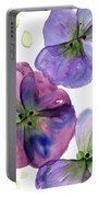 Three Pansies Portable Battery Charger