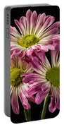 Three Pink Flowers Portable Battery Charger