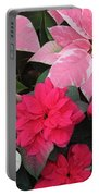 Three Pink Poinsettias Portable Battery Charger