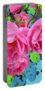 Three Pink Roses By M.l.d.moerings 2010 Portable Battery Charger