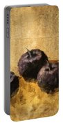 Three Plums Still Life Portable Battery Charger
