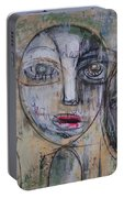 Three Portraits On Paper Portable Battery Charger