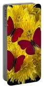 Three Red Butterflys Portable Battery Charger by Garry Gay