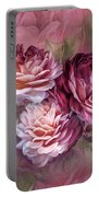 Three Roses Burgundy Greeting Card Portable Battery Charger