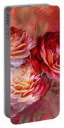 Three Roses Red Greeting Card Portable Battery Charger