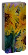 Three Sunflowers Portable Battery Charger