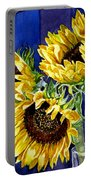 Three Sunny Flowers Portable Battery Charger