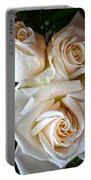 Three White Roses Portable Battery Charger
