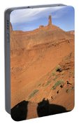 Three Women Mountain Biking In Moab Portable Battery Charger