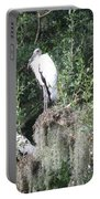 Three Wood Storks Portable Battery Charger