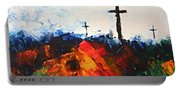 Three Wooden Crosses Portable Battery Charger