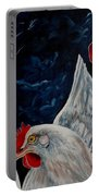 Three's A Crowd   -    Roosters -chicken Portable Battery Charger