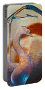 Through A Glass Goose Darkly Portable Battery Charger