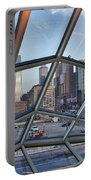 Through The Glass At Philly Portable Battery Charger