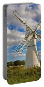 Thurne Dyke Windpump On The Norfolk Broads Portable Battery Charger