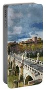 Tiber River In Rome Portable Battery Charger