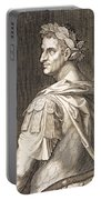 Tiberius Caesar Portable Battery Charger by Titian