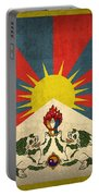 Tibet Flag Vintage Distressed Finish Portable Battery Charger