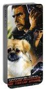 Tibetan Spaniel Art - Blade Runner Movie Poster Portable Battery Charger