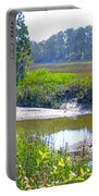 Tidal Creek In The Savannah Portable Battery Charger