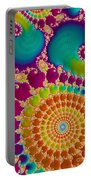 Tie Dye Spiral  Portable Battery Charger