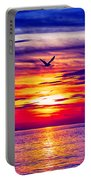 Tie Dyed Sky Portable Battery Charger