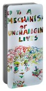 Tied To A Mechanism Of Unchanging Lives Portable Battery Charger